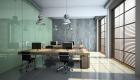 Gebäudereinigung in modernem Büro